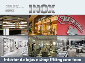 Interior de lojas e shop fitting com inox