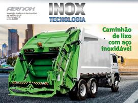 Caminhão de lixo com aço inoxidável