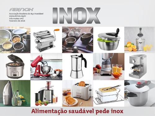 Alimentação saudável pede Inox