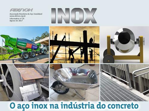 O aço inox na indústria do concreto
