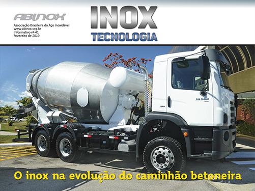 O inox na evolução do caminhão betoneira