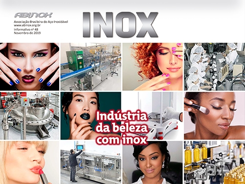 Indústria da beleza com inox