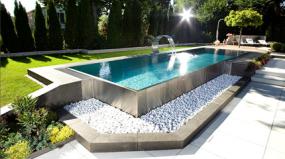 14 piscinas em aço inoxidável que vão te encantar