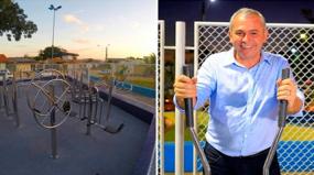 Santarém inova espalhando academias com estrutura inoxidável e carbono