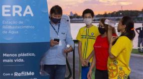 Parque das Águas ganha bebedouro em inox acionado por aplicativo