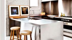 A tendência das cozinhas de aço inoxidável
